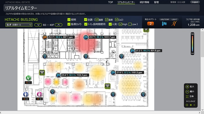 [image]The Screen of the IoT Platform for Buildings-2