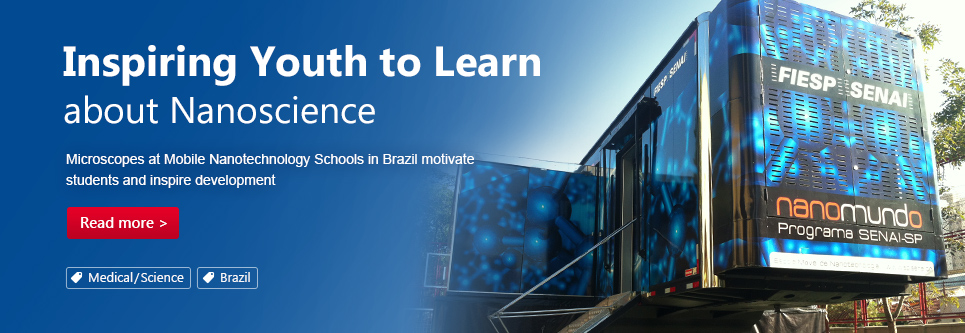 Inspiring Youth to Learn about Nanoscience. Microscopes at Mobile Nanotechnology Schools in Brazil motivate students and inspire development.