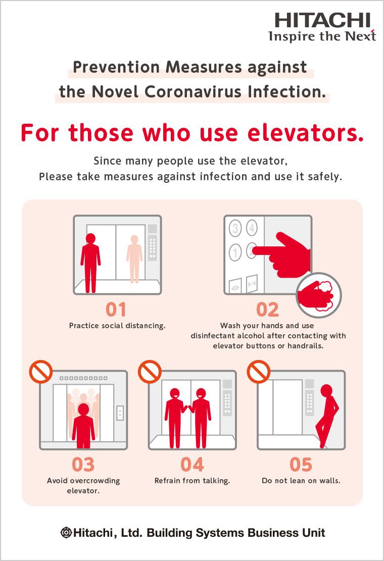 Tips For Elevator Escalator Users Regarding Coronavirus Covid 19 Elevators Escalators Hitachi Global