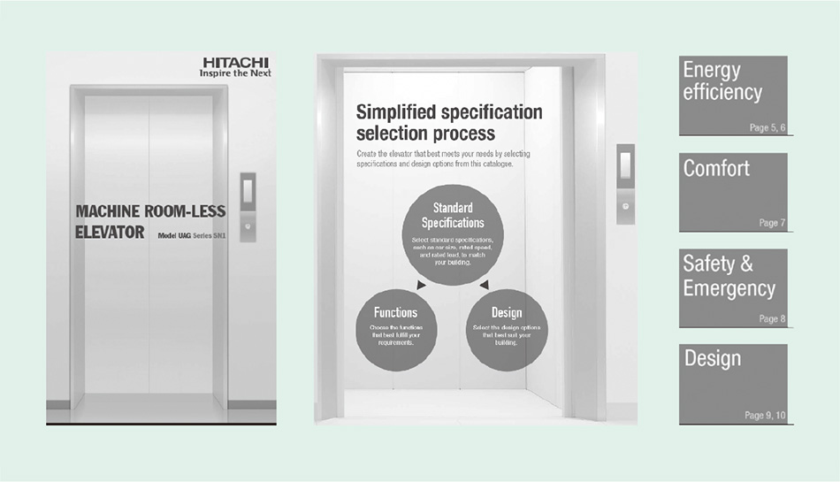 New Globally Standardized Machine-room-less Elevator : —Satisfying