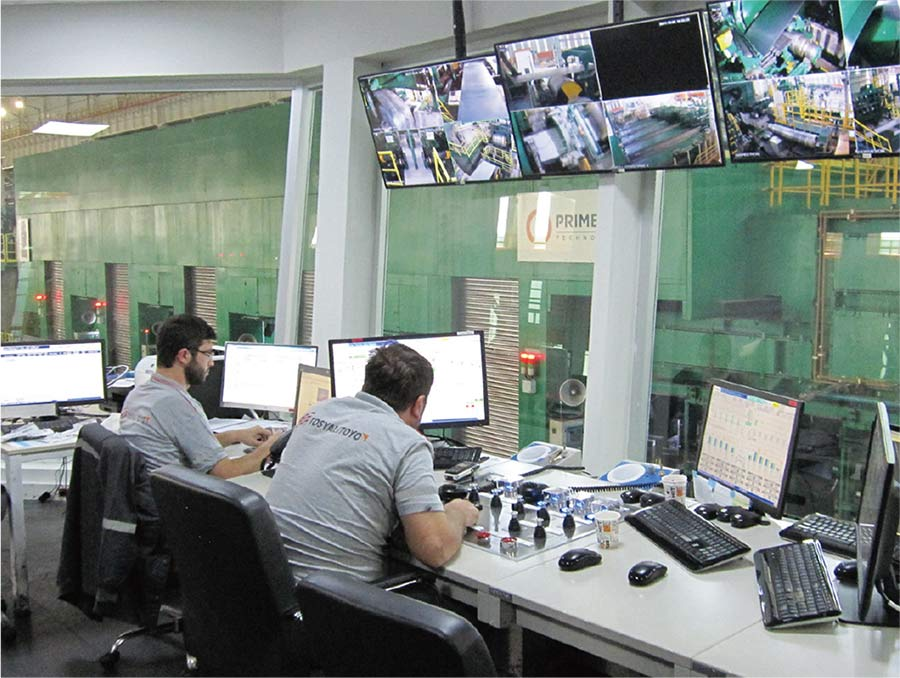 Control room during operation