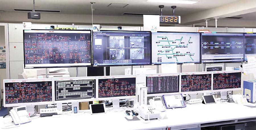 Central system control console for power management system at Tokyu Corporation