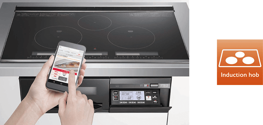 HT-L350KTWF (K) induction hob and smartphone app