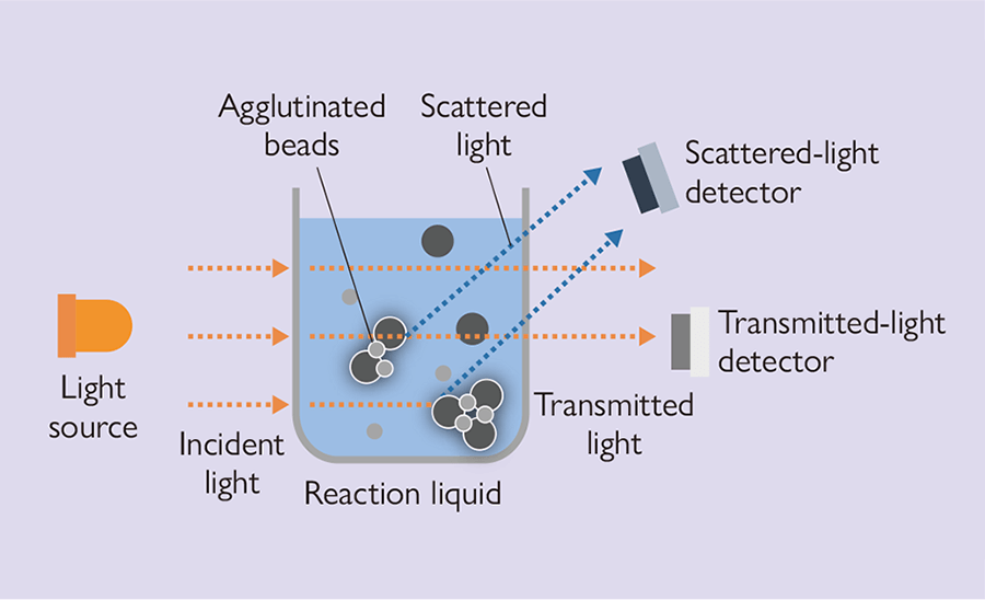 Principle of measurement of scattered light photometer