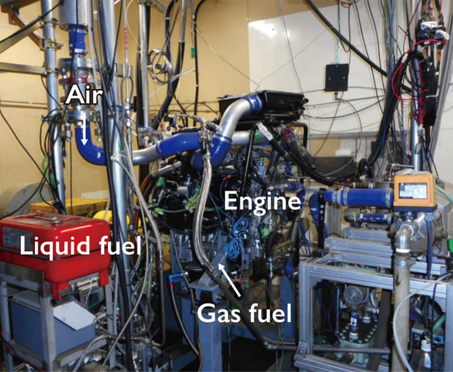 Engine system for testing