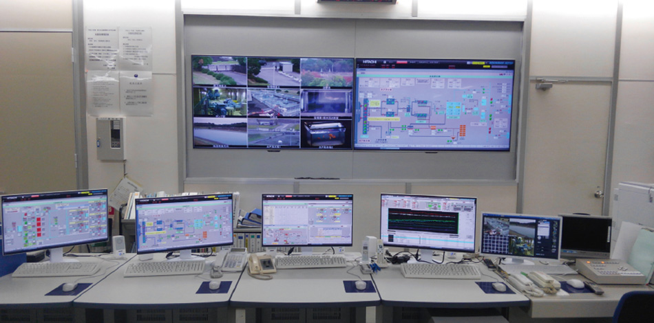 [2] Central monitoring and control system of the Central District Waterworks Office (Mito Water Purification Plant)