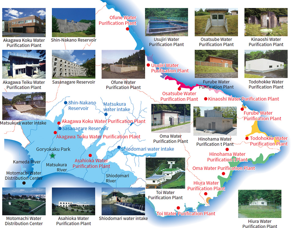 [3] Waterworks management facilities in the City of Hakodate