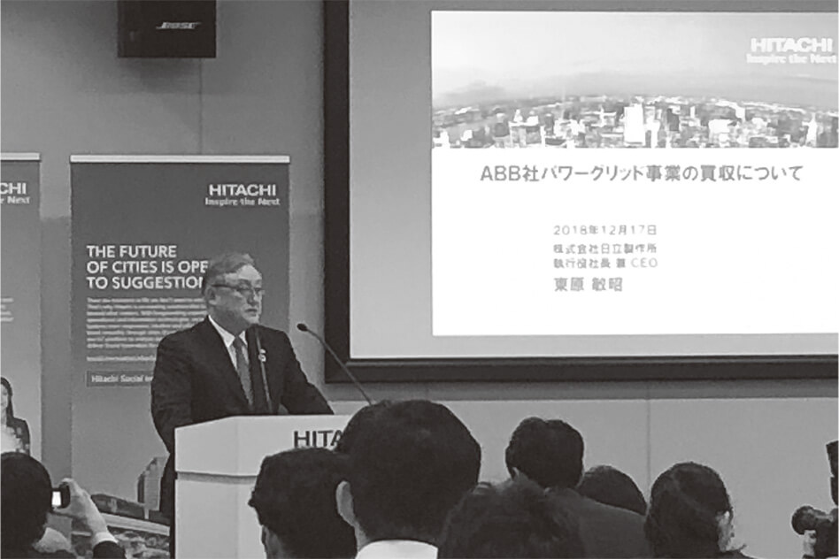 Fig. 2—Presentation on Hitachi's Acquisition of ABB's Power Grid Business